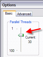 max. parallel threads limit
