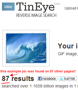 Yikes! The nice example pic seems to be on 87 other sites!